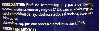 PUTTANESCA - Ingredients