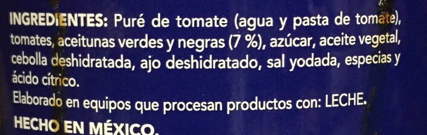 PUTTANESCA - Ingrédients - es