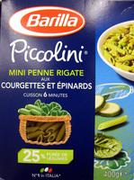 Mini Penne Rigate aux Courgettes et Épinards Piccolini - Produit - fr