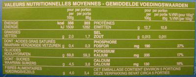 Mini Penne Rigate aux Courgettes et Épinards Piccolini - Informations nutritionnelles - fr