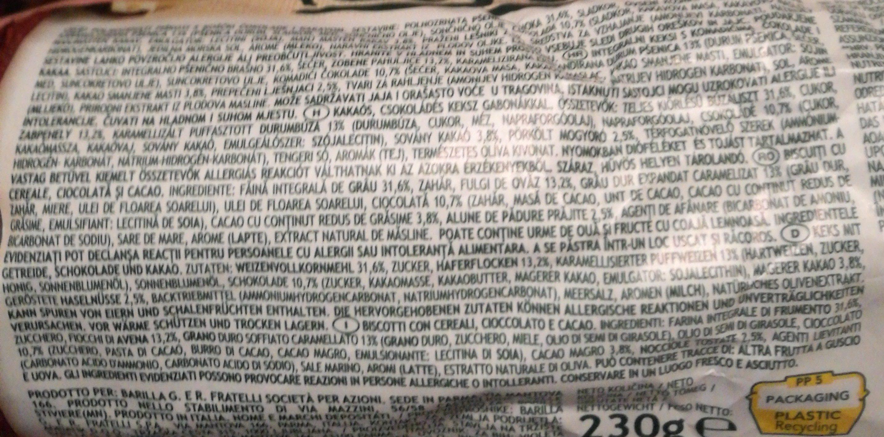 Gran Cereale Cacao - Ingrédients
