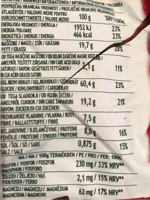 Gran Cereale Frutta - Voedingswaarden - fr