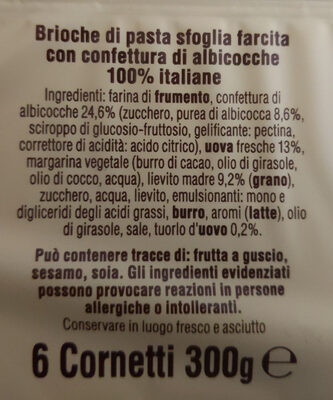 Cornetti all'Albicocca - Ingredienti - it