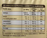 Cornetti Albicocca GR. 300 - Voedingswaarden - fr