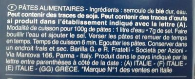 Pâtes Torsades - Ingredienti - fr