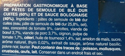 Gemelli Alla Bolognese - Ingrédients - fr