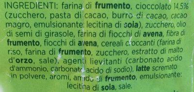 Mulino Bianco Chicchi Di Cioccolato - Ingrediënten - it