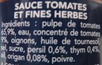 Sauce Provençale Barilla - Ingredients