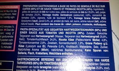 Gemelli pomodoro e ricotta (Sauce tomate et ricotta) - Ingredients - fr