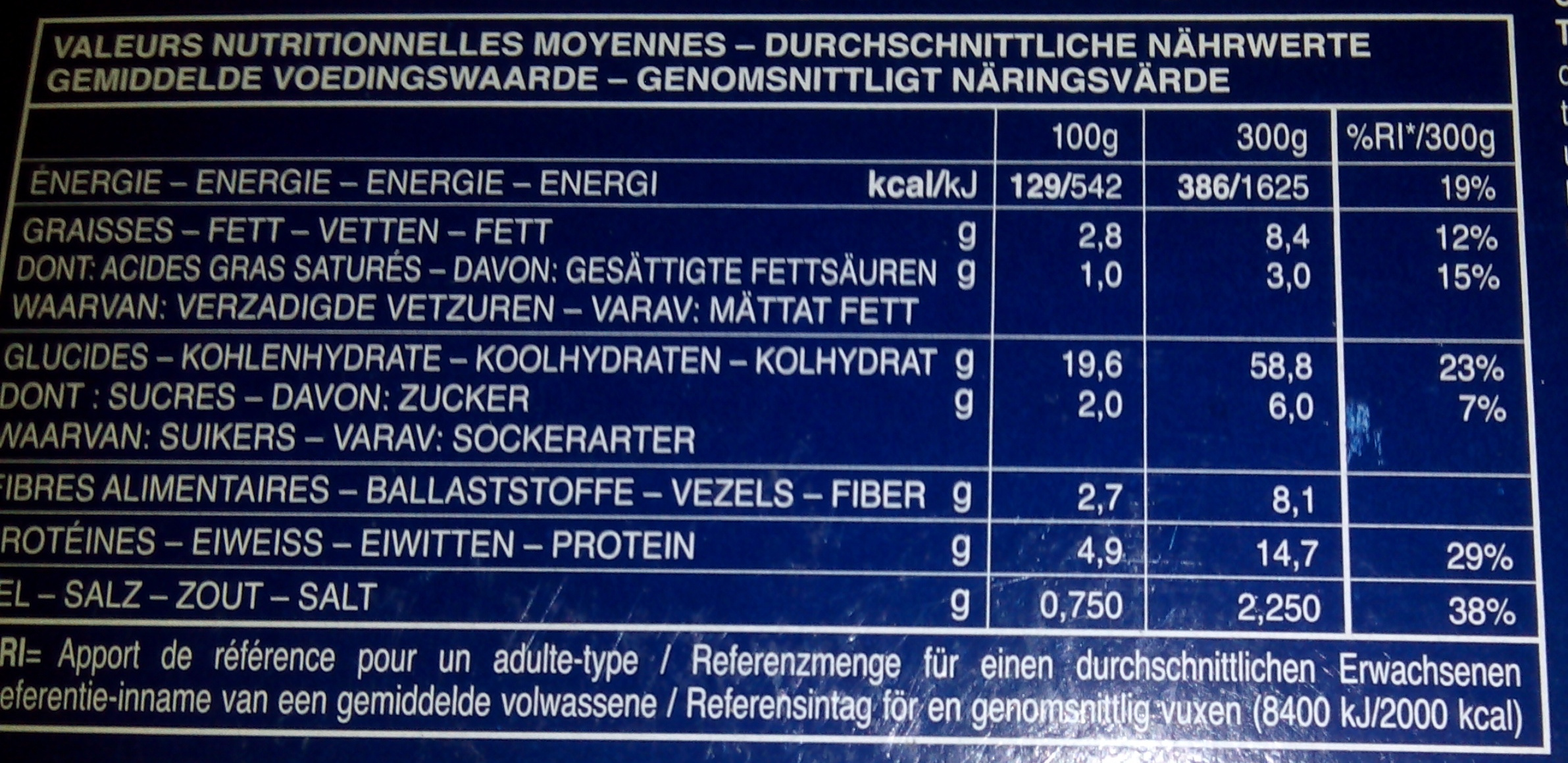 Gemelli pomodoro e ricotta (Sauce tomate et ricotta) - Nutrition facts - fr