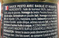 Pesti con Basilico e Rucola - Informations nutritionnelles