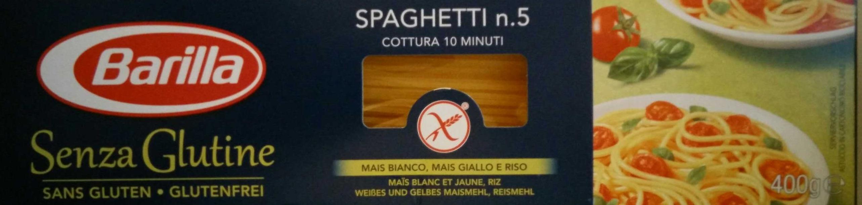 Senza Glutine Spaghetti n°5 - Prodotto