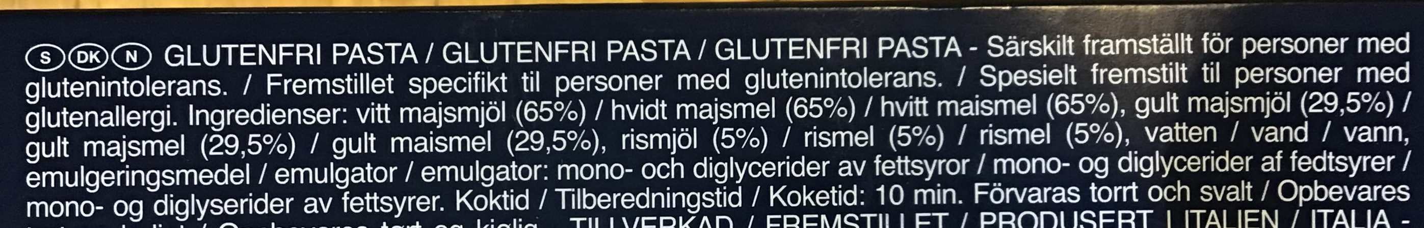 Spaghetti sans gluten - Ingredienser - da