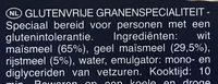 Spaghetti sans gluten - Ingrediënten - nl