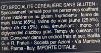 Fusilli senza glutine - Ingrédients - fr