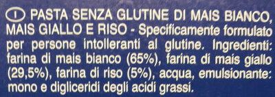 Fusilli senza glutine - Ingredienti - it