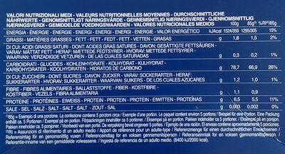 Fusilli sans gluten - Informations nutritionnelles