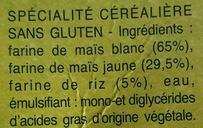 Coquillettes sans gluten - Ingredients - fr