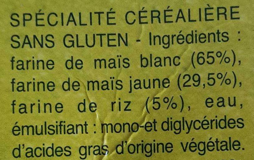 Coquillettes sans gluten - Ingredienti - fr