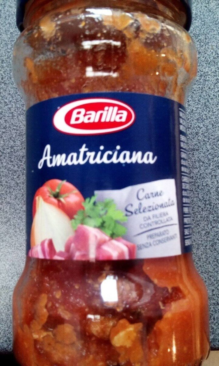 Amateiciana, sugo - Informations nutritionnelles - it