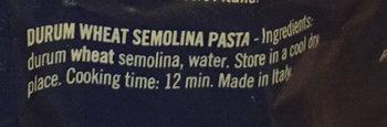 Pâtes Fusilli - Ingredients
