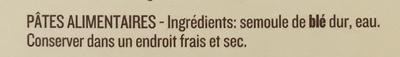 Farfalle - Ingrédients - fr