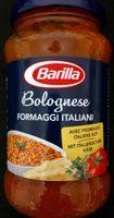Bolognese formaggi italiani Barilla - Produkt