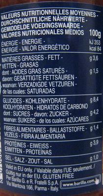 Sauce bolognaise et fromages Italie - Valori nutrizionali - fr