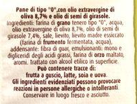 Focaccelle con Olio Extravergine du Oliva - Ingredienti