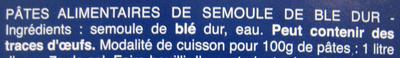Penne Rigate n. 73 - Ingrédients