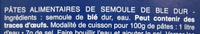 Penne Rigate n. 73 (Lot x 3) - Ingrédients - fr