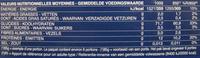 Penne Rigate n. 73 (Lot x 3) - Informations nutritionnelles - fr