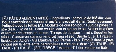 Pate fusili - Ingredients