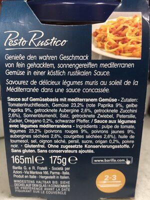 Pesto Rustico Mediterranes Gemüse - Ingrédients