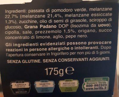 Barilla Pestato Melenzane GR - Ingrédients - fr