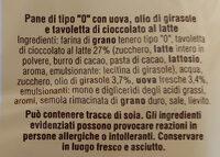 Pane+cioccolato al latte pezzi - Ingrediënten - it