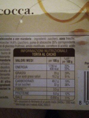 Mulino Bianco - Nutrition facts