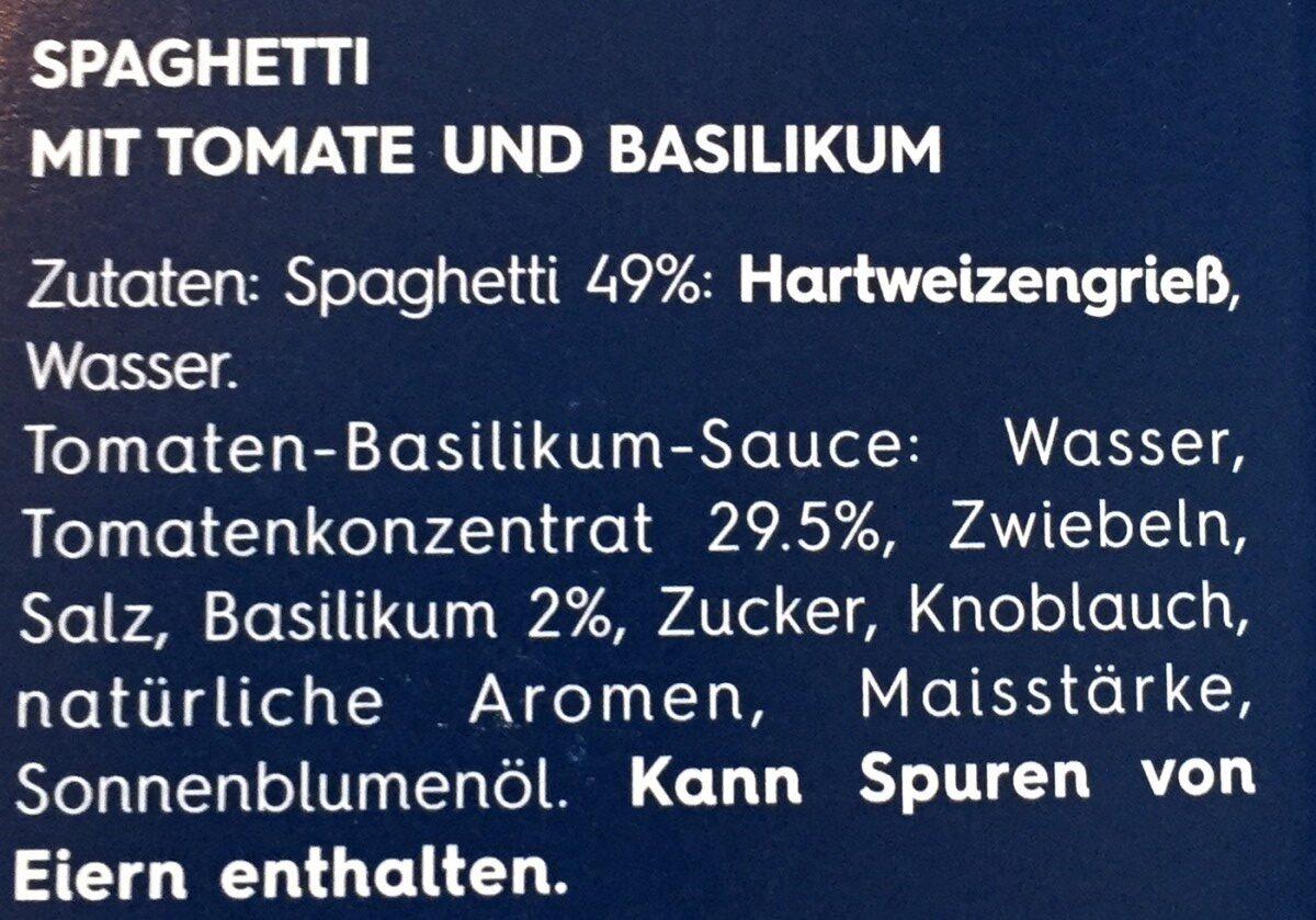Barilla Koch set FüR Spaghetti Tomate Und Basilikum 510 g - Ingrediënten