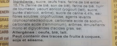 PlumCake Integrale - Ingredients