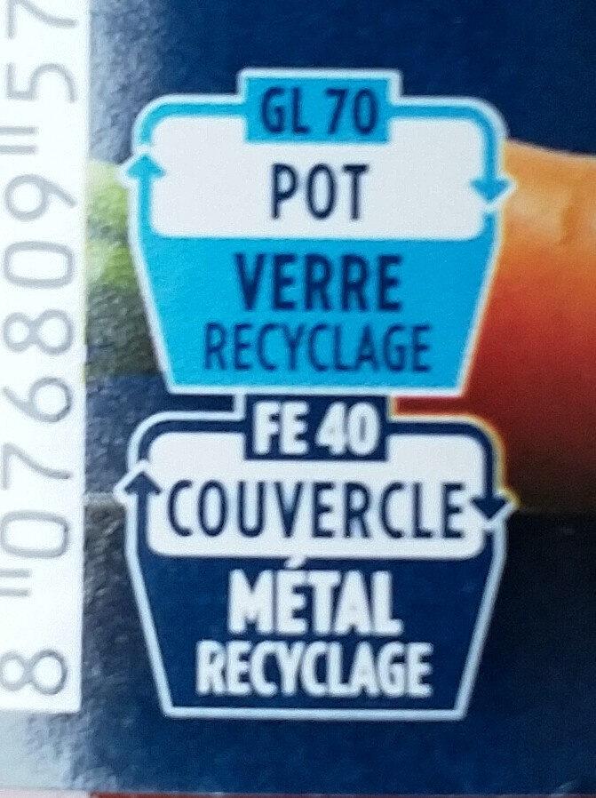 Sauce tomates cuisinées - Instruction de recyclage et/ou informations d'emballage - fr
