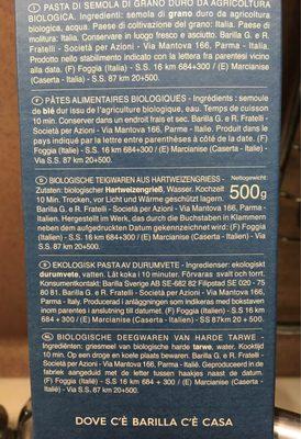 Pâtes Fusilli biologiques - Ingrédients - fr