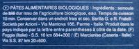 Barilla pates bio fusili - Ingredients - fr