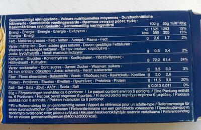 BIO EKO spaghetti n.5 - 栄養成分表 - fr
