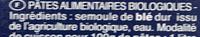 Pâtes Coquillettes biologiques - Ingredients - fr