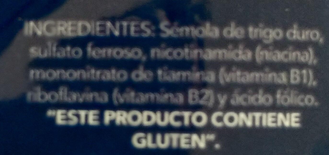 Conchiglie Rigate - Ingrédients
