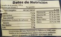 Conchiglie Rigate - Informations nutritionnelles