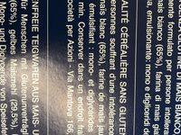 Tagliatelle sans gluten - Informations nutritionnelles