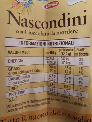 Nascondini - Valori nutrizionali - it