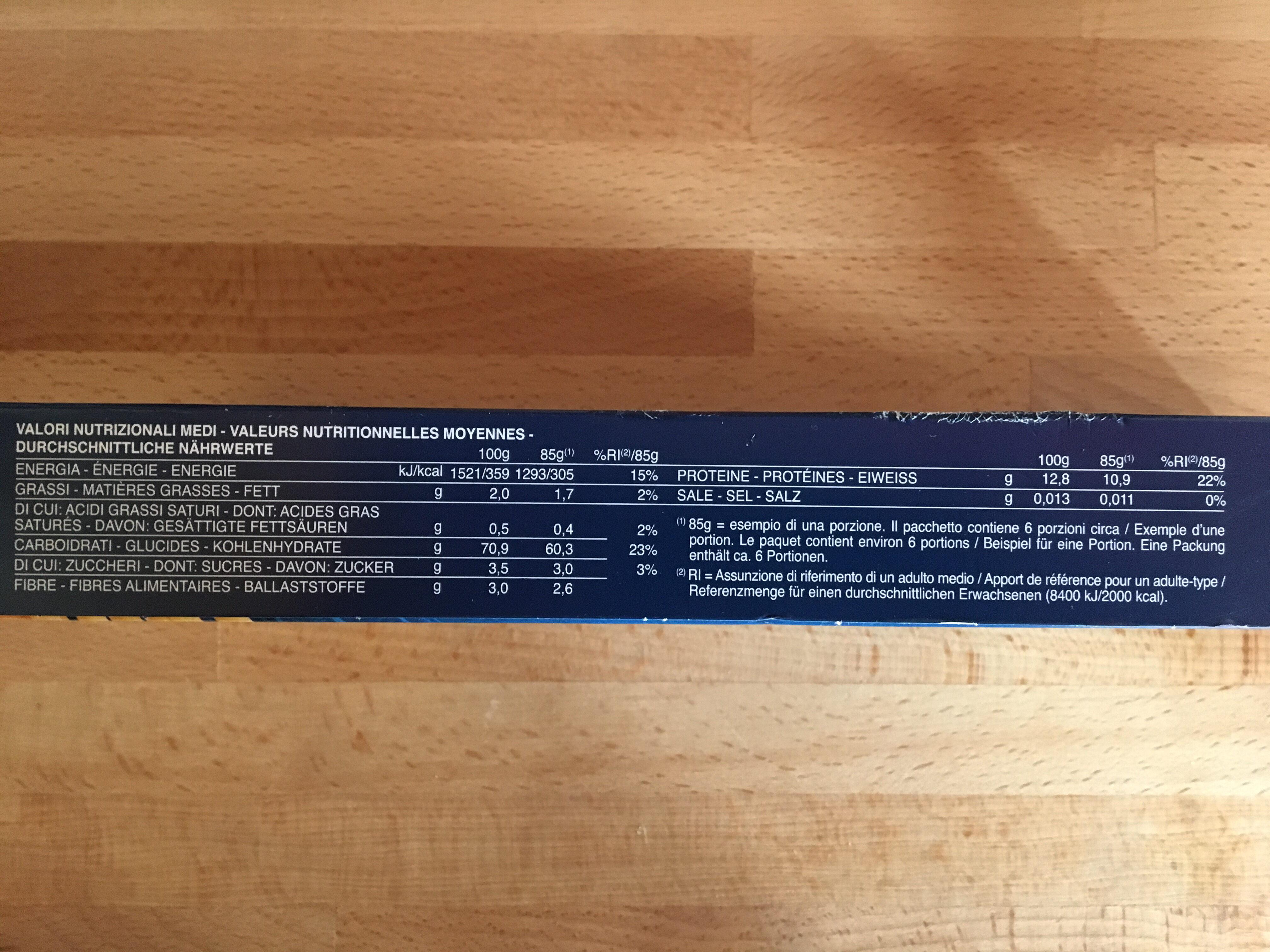 Spaghetti 3 Minuti - Informations nutritionnelles - fr