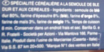 Spaghetti 5 céréales - Informations nutritionnelles - fr